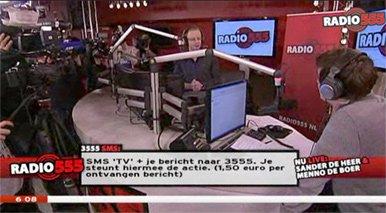 De studio van Radio 555
