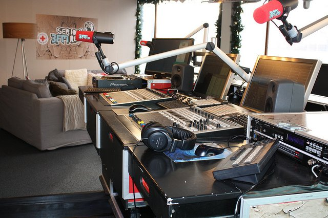 De studio is er klaar voor