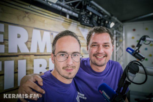 Frank van 't Hof en Barry Brand bij Kermis FM