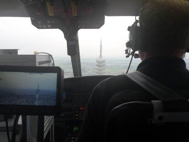 Foto vanuit de helikopter