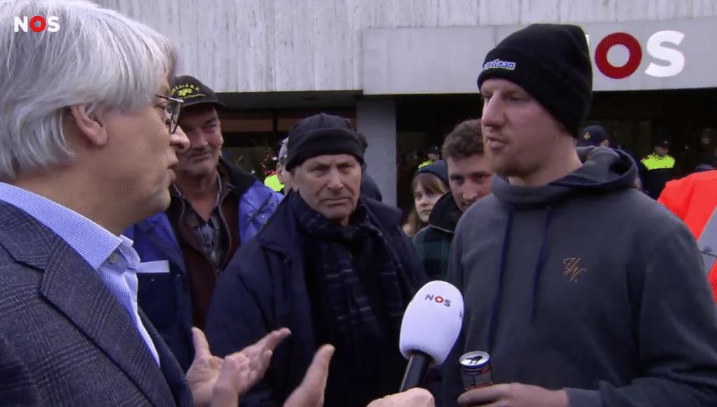 Boerenprotest bij de NOS