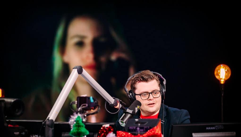 Rob Janssen tijdens 3FM Serious Request: The Lifeline