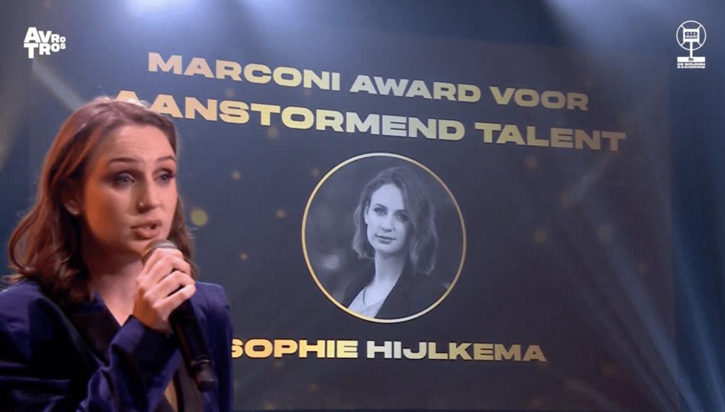 Sophie Hielkema met Marconi Award
